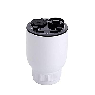 MIGHTDUTY Car Aroma Diffuser, Car Air Purifier with USB Car Charger 2-Port, Car Air Freshener with Safety Hammer, Remove Dust, Pollen, Cigarette Smoke, Pet and Food Odor (White): Home & Kitchen