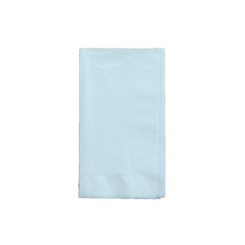 16-Count Touch of Color 3-Ply Paper Guest Napkins, Pastel Blue Baby Solid Color Tableware