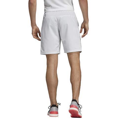 adidas Men's Club 3-Stripes 9-Inch Tennis Shorts, White/Black, X-Large by adidas (Image #2)
