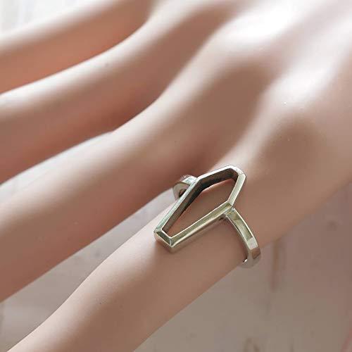 Silver coffin ring gothic jewelry alchemy odd women satanic occult punk - Coffin Silver