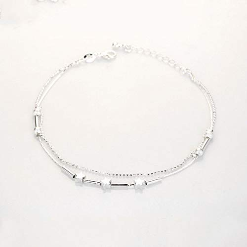 Double Layer Elegant Originality Beach Five-Pointed Star Anklet