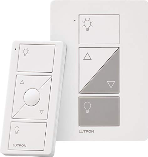 Lutron Caseta Wireless Smart Lighting Lamp Dimmer and Remote Kit, P-PKG1P-WH, White, Works with Alexa, Apple HomeKit, and the Google Assistant
