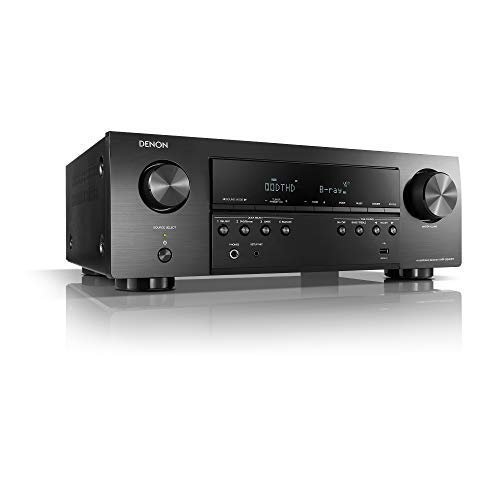 Denon AVR-S540BT-R Receiver, 5.2 Channel, 4K Ultra HD Audio and Video, Home Theater System, Built-in Bluetooth and USB Port (Renewed)