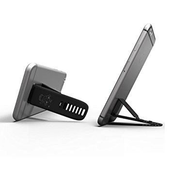 Stand Integral (A-iEasy Cell Phone Stand Holder for Smartphones, e-Readers, iPhone, Samsung Galaxy/Tab, HTC, LG, Nokia Lumia, and More (Black) [with Patent Register])
