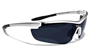 X-Loop Lunettes de Soleil - Sport - Cyclisme - Ski - Running - Tennis - Squash - Moto / Mod. 035P Gris Bleu Ice Iridium 7qfzY3