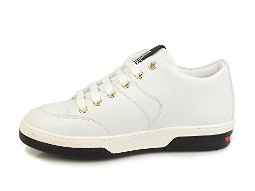 Lacci Ja15023g15ia0100b Running Borchie Moschino Love Sneakers Bianco Pace Donna Sintetico zxFIv