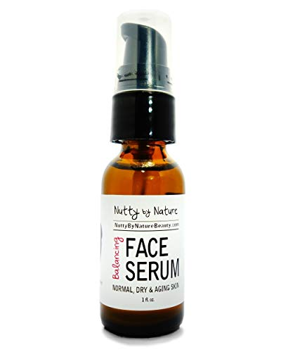 Nutty By Nature Balancing Face Serum - Normal, Dry and Aging Skin - 100% - Antioxidant Nature Moisturizer