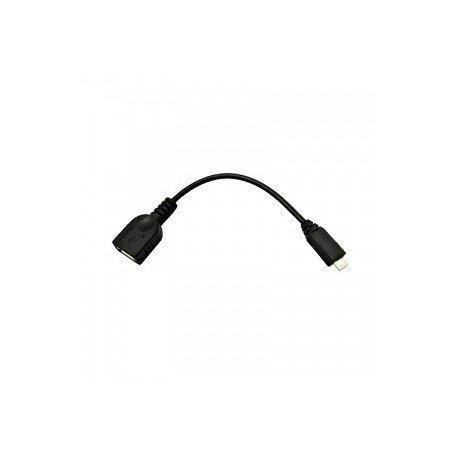 Nano Cable 10.01.3500 - Cable USB (Micro B/M-A/H, 0.15 m, USB OTG), color negro