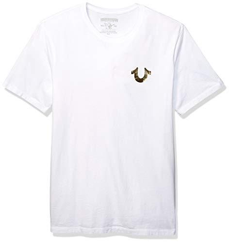 Buddha Tee Shirts - True Religion Men's Big Buddha Tee, White, XXL