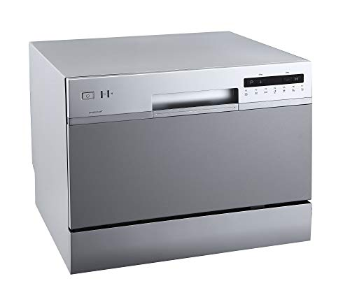 Price comparison product image EdgeStar DWP62SV 6 Place Setting Energy Star Rated Portable Countertop Dishwasher - Silver
