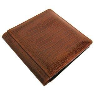 12x12 Album Chocolate (NILE BROWN crocodile print leather #106 scrapbook album by Raika - 12x12)