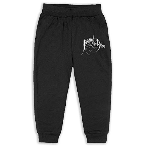 Gltiosr Panic! at The Disco Kid's ComfortSoft Jogger Pants Casual Long Sweatpants Pockets 3T Black for $<!--$27.69-->