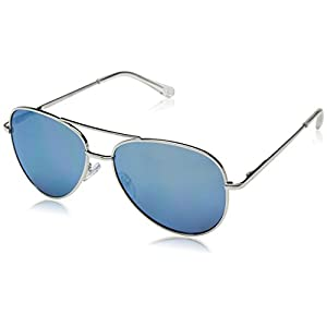 Peepers Women's Heat Wave Bifocal Aviator Sunglasses, Blue_Silver, 1.5