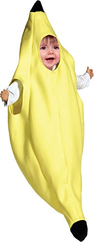 [UHC Baby's Banana Bunting Outfit Infant Newborn Fancy Dress Halloween Costume, 3-9M] (Banana Bunting Costumes)