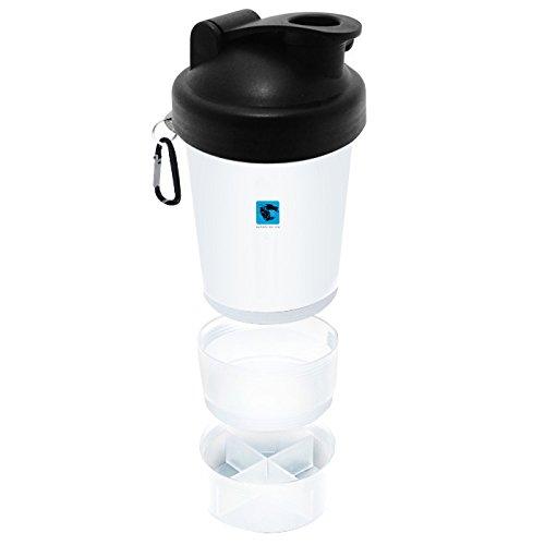 GymAdvisor Smart Shaker Protein Sport Wasser Flasche Mixer Ball SmartShake 600ml Gym Calisthenics Gesundheit Fitness