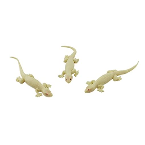 Realistic Rubber Lizard Toys 5 Inch House Gecko (Brown) - 1A