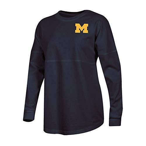 Champion Ladies University of Michigan Wolverines Long Sleeve Oversized Fan Shirt - National Champions Michigan