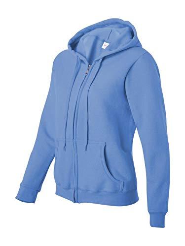 Gildan womens Heavy Blend 8 oz. 50/50 Full-Zip Hood(G186FL)-CAROLINA BLUE-M ()