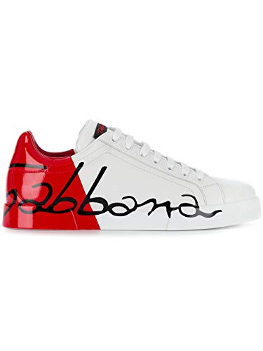 Dolce e Gabbana Men's Cs1600ai053hr821 White Leather Sneakers