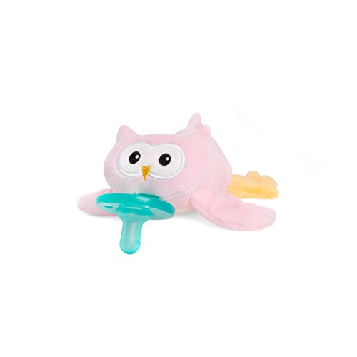 Wubbanub Infant Pacifier - Pink Owl (Pink Baby Pacifier)