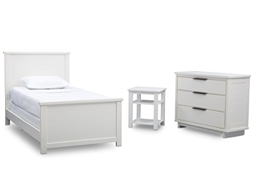 Delta Children Meadowbrook 3-Piece Twin Room-In-A-Box, Bianca, White