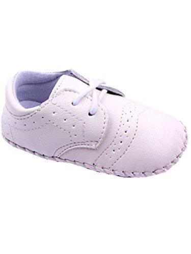YICHUN bebé unisex ocio zapatos zapatos de fiesta zapatos de Prewalker cuna suave zapatos antideslizante blanco blanco Talla:Sole Length:11cm/4.3 inches blanco