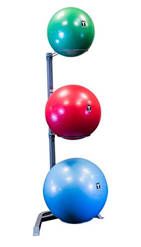 Body-Solid GSR10 Vertical Stability Ball Storage Rack - Holds 3 Exercise Balls by Ironcompany.com