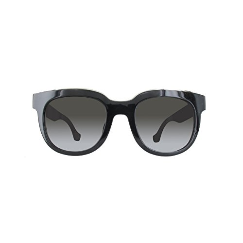 black shiny BA0060F Balenciaga gradient smoke femme soleil Lunettes de ZgqwfH