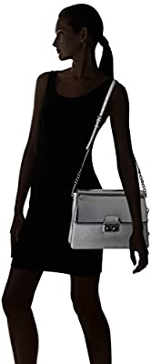 Calvin Klein Novelty Mirrored Large Flap Crossbody