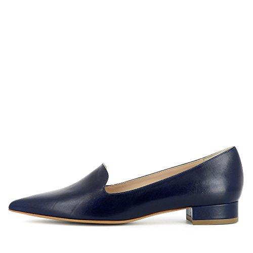 Piel de Mocasines para mujer Azul Shoes Franca Evita pItU77