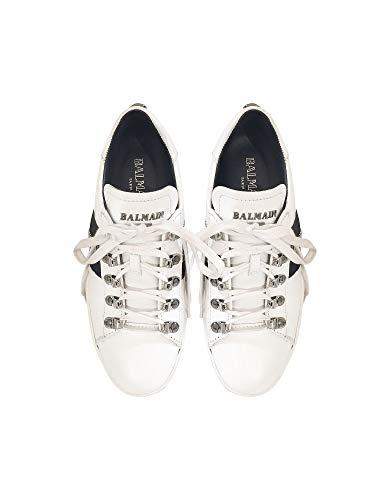 Balmain Blanc Cuir Baskets Femme W8fc353pvsy100 rqBrS