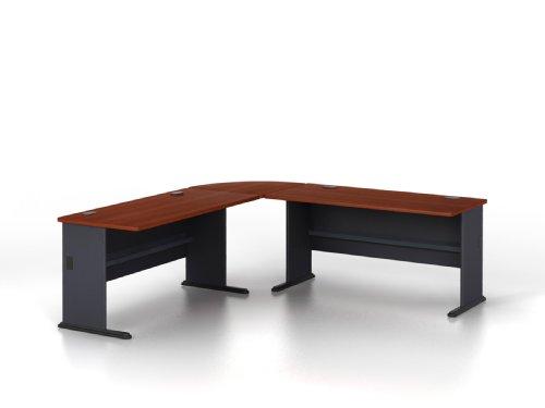 - Bush Business Furniture Series A 60W Desk with 27W Corner Connector in Hansen Cherry
