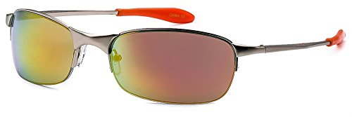 X-Loop Mens Comfortable Sleek Sports Metal Frame Sunglasses - Choose Color! (Silver - - Metal Sunglasses X
