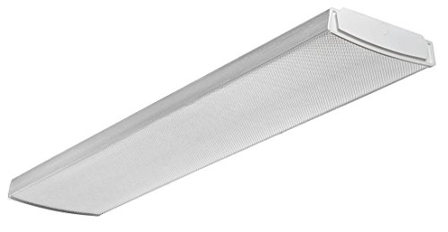 Lithonia Lighting LBL4 LP840 Led Curved Wraparound Ceiling Light, 4', 4000 Lumens, 4000K, (Dimmable Fluorescent Light Fixtures)