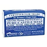 Dr. Bronner – Organic Peppermint Bar Soap, 5 oz bar soap ( Multi-Pack)