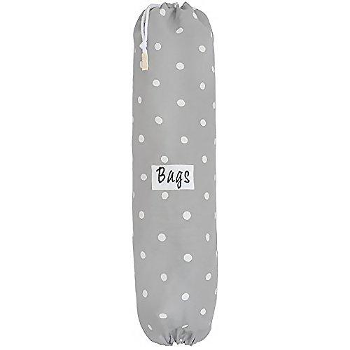 - Plastic Carrier Grocery Bag Holder Dispenser - Large Gray, Polka Dots - Designed, Printed & Handmade in the UK