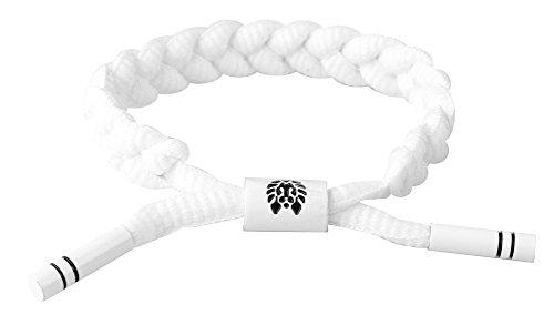 (Rastaclat Level 1 RC001LVL1 White Multi Shoelace Braided Bracelet Wristband)