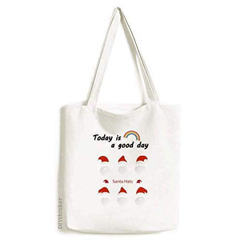 Merry Christmas Santa Claus Portrait Tote Canvas Bag Craft Washable Fashion Shopping Handbag (Portrait Santa Claus)
