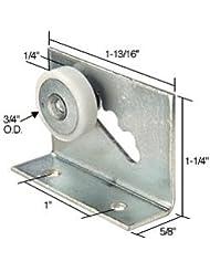 """3/4"""" Flat Edge Nylon B.B. Sliding Shower Door Roller Assembly - Package"""