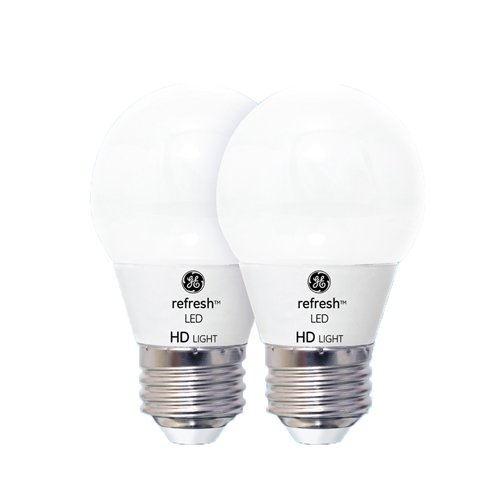 GE Lighting 92208 LED Refresh HD 6.5-watt (60-watt Replacement), 530-Lumen A15 Light Bulb with Medium Base, Daylight, 2-Pack