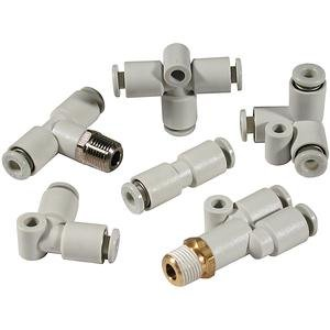 SMC KQ2ZD11-37S fitting, dbl brnch univ m *lqa - 10 pack by SMC Corporation