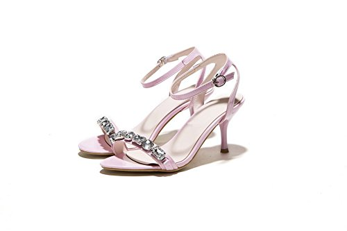 BalaMasa Girls Glass Diamond Outdoor Patent Leather Sandals Lightpink JAAZfL8