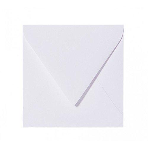 Briefumschläge24Plus 100 enveloppes 15 x 15 cm blanc 150 x 150 mm fermeture par humidification-grammage : 120 g/m²