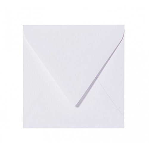 bianco feuchtklebend Grammatura Chiusura 120 G//M/² 25 Buste quadrate 15 x 15 cm 150 X 150 mm Bianco con Fodera Interna