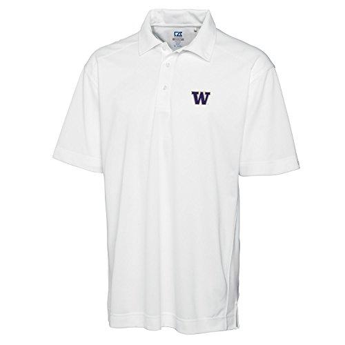 Cutter & Buck NCAA Washington Huskies Men's Genre Polo Tee, X-Large, White - Washington Huskies Ncaa Tee