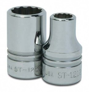 Williams ST-1221 1//2 Drive Shallow Socket 12 Point 21//32-Inch JH Williams Tool Group