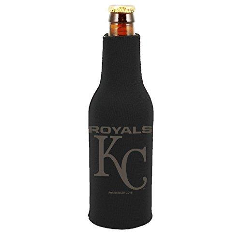 Kansas City Royals 2-PACK Zipper BOTTLE Tonal Black Koozie Neoprene Holder Cooler Coolie Baseball ()
