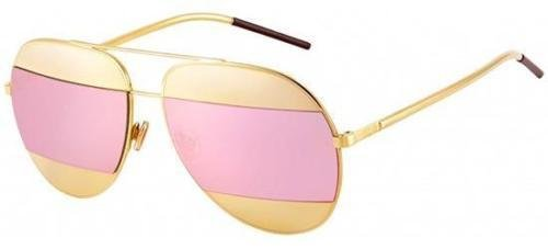 1aa9407a5acd Image Unavailable. Image not available for. Color  New Christian Dior SPLIT  1 000 0J rose gold rose gold mirror avitor sunglasses