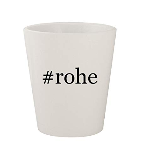 #rohe - Ceramic White Hashtag 1.5oz Shot Glass - Barcelona Collection Coffee Table