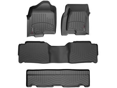 2011-2015 Dodge Durango-Weathertech Floor Liners-Full Set (Includes 1st , 2nd and 3rd Row) Black